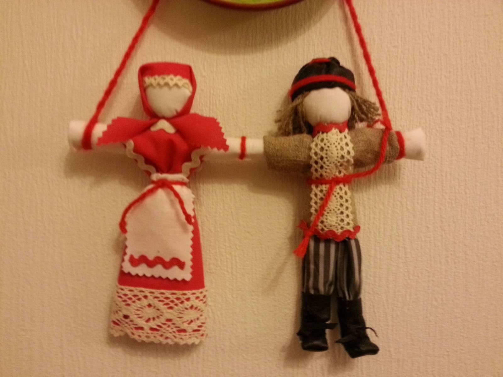 Неразлучники. Народная кукла из ткани, мастер-класс / Умелые 46